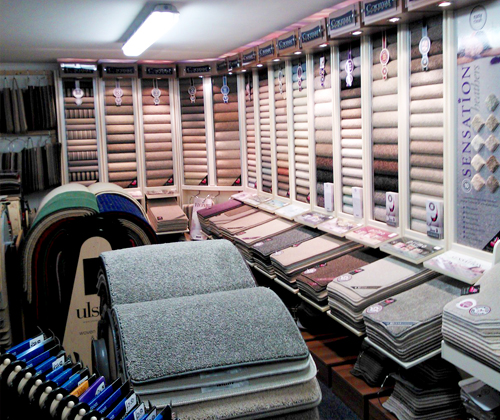 Our carpet showroom in Braintree, Essex